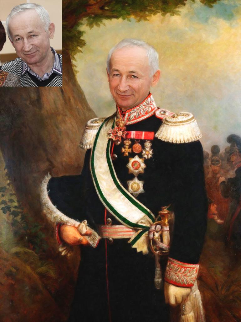 Где заказать исторический портрет по фото на холсте в Красноярске?