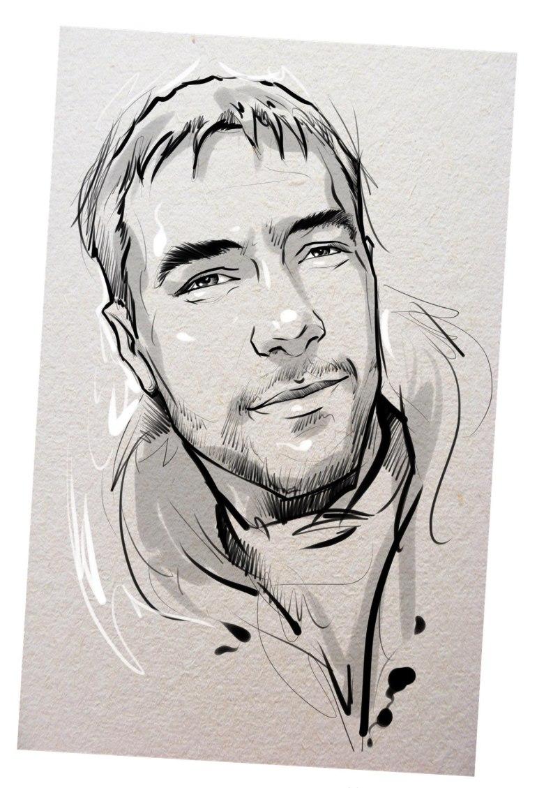 Портрет карандашом любимому мужу в Красноярске…