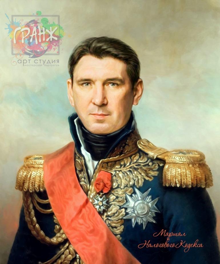 Портрет по фото на холсте в подарок мужчине
