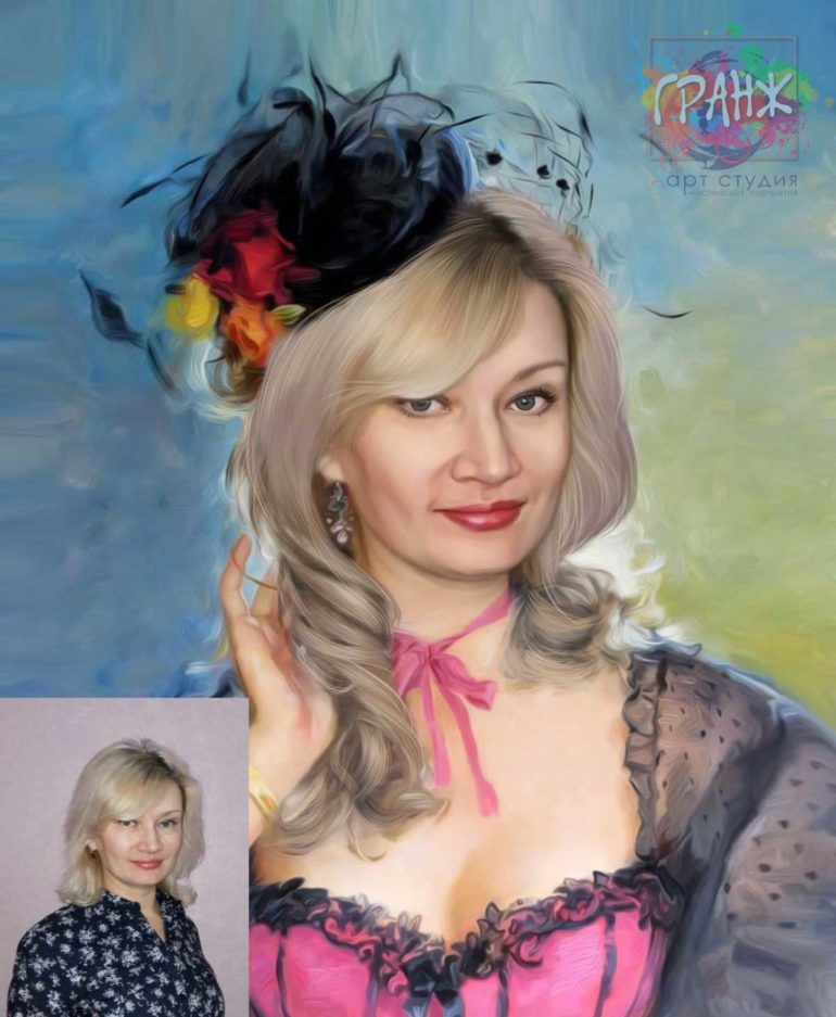 Заказать арт портрет по фото на холсте в Красноярске