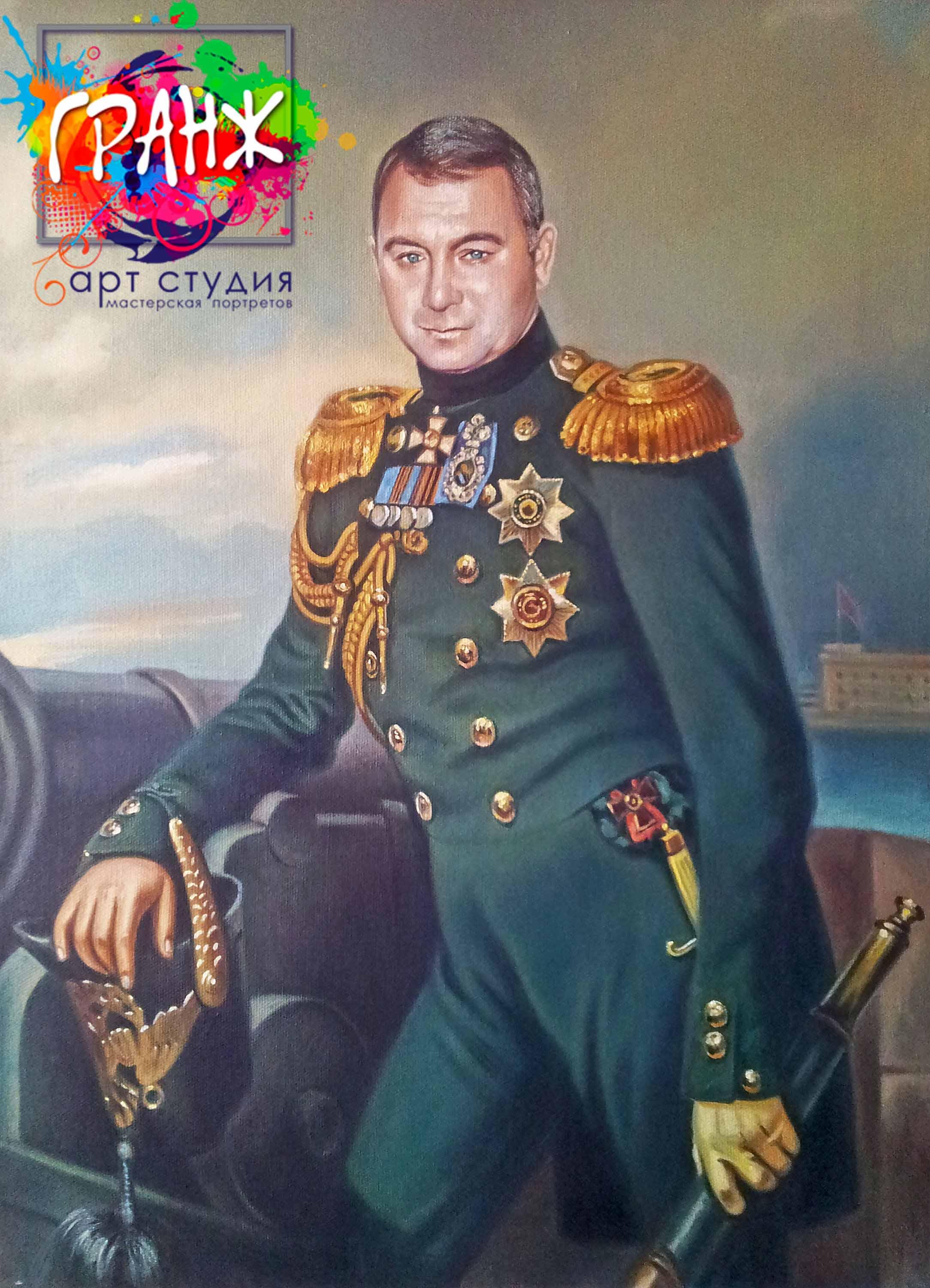 Заказать портрет маслом по фотографии в Красноярске