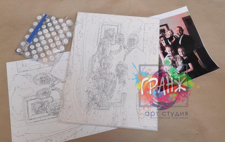 Картина по номерам по фото, портреты на холсте и дереве в Красноярске